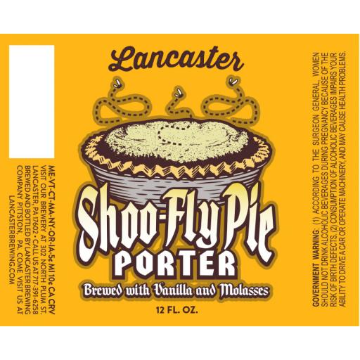 Shoo-Fly Porter - Lancaster Brewing Company : BreweryDB.com