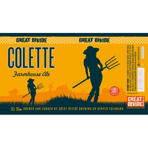 136a402027 Colette Farmhouse Ale - Great Divide Brewing Company   BreweryDB.com