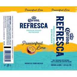 Corona Refresca Passionfruit Lime Grupo Modelo S A De C V Brewerydb Com