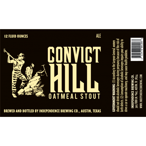 Convict Hill Stout - Independence Brewing Company